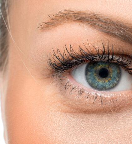 Woman's eye - close up photo.