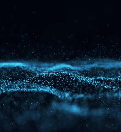 flow of particles